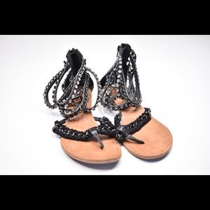 Women's Chain and Stone Sandals Sz. 10